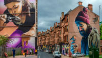 Glasgow murals, Scotland © 2018 Keith Trumbo