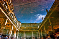 Reflections of Roman Baths, Bath  © 2017 Keith Trumbo