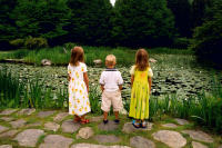Three children by pond, NY  © 2017 Keith Trumbo