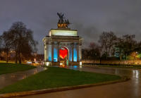 Captured Heart, Wellington Arch, London © 2018 Keith Trumbo