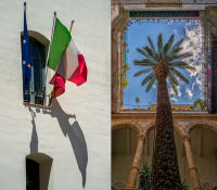 Flags, Cefalu - Palm Tree, Palermo © 2018 Keith Trumbo