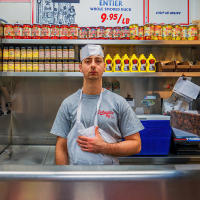 Counter man, Schwartz's, Montreal © 2019 Keith Trumbo
